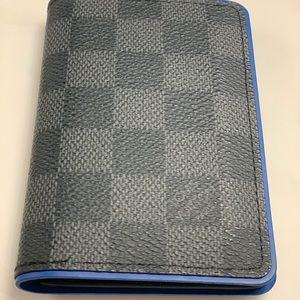Louis Vuitton Blue/Black Pocket Organizer
